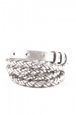Comptoir des Cotonniers Braided Belt silver-colored cable stitch casual look