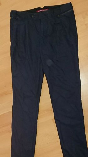 Comptoir des Cotonniers Pantalone a pieghe blu scuro