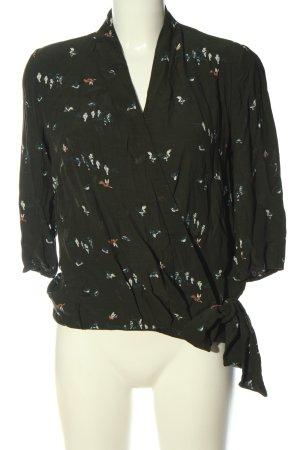 Comptoir des Cotonniers Shirt Blouse khaki allover print business style
