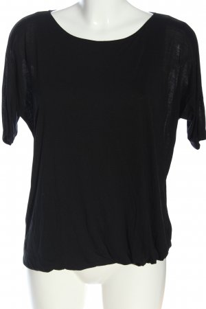 Comptoir des Cotonniers Kurzarm-Bluse schwarz Casual-Look