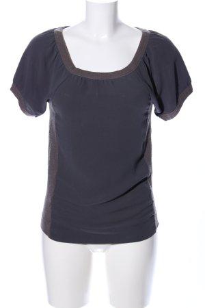 Comptoir des Cotonniers Kurzarm-Bluse blau Casual-Look