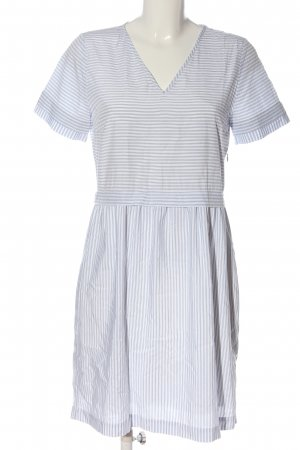 Comptoir des Cotonniers Kurzarmkleid weiß-blau Streifenmuster Casual-Look