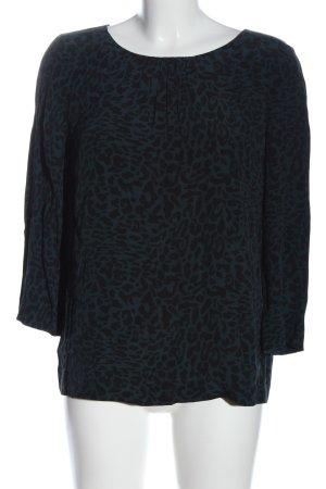 Comptoir des Cotonniers Camicetta a maniche lunghe blu-nero motivo animale