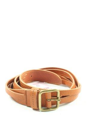 Comptoir des Cotonniers Cinturón de cuero de imitación naranja claro