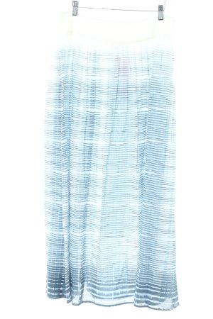 Comptoir des Cotonniers Maxirock blau-wollweiß Streifenmuster Casual-Look