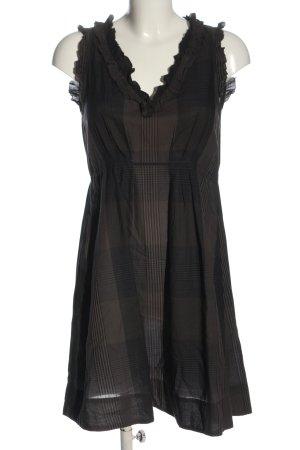 Comptoir des Cotonniers Abito midi nero-crema motivo a righe stile casual