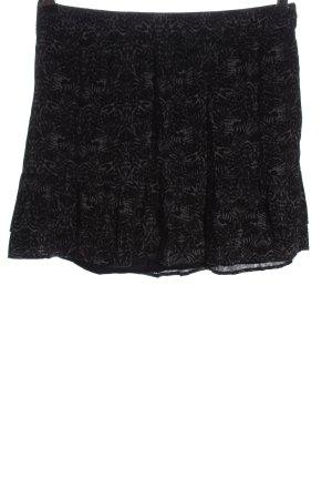 Comptoir des Cotonniers Minigonna nero motivo astratto stile casual