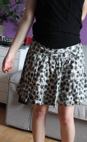 Comptoir des Cotonniers Minigonna bianco sporco-nero motivo astratto