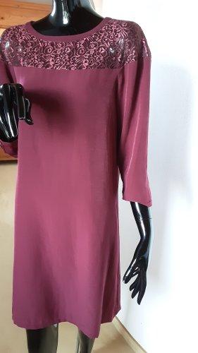 Comptoir des Cotonniers, neues weinrotes langärmeliges Kleid, Gr. 36 bis 38