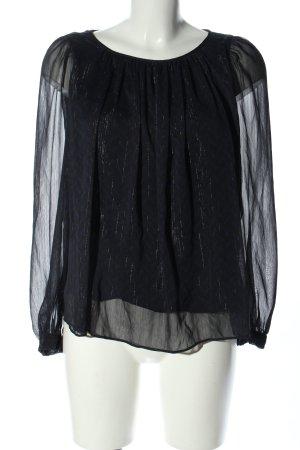 Comptoir des Cotonniers Oversized Bluse schwarz-blau Casual-Look
