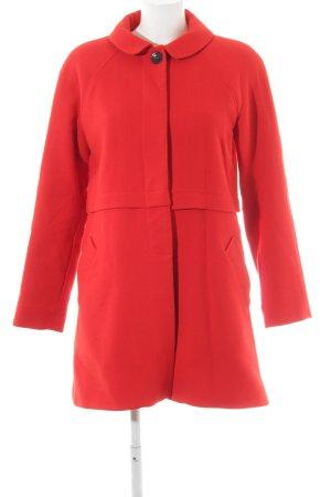 Comptoir des Cotonniers Abrigo ancho rojo oscuro look Street-Style