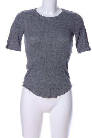 Comptoir des Cotonniers Ribbed Shirt light grey flecked casual look