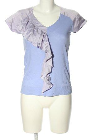 Comptoir des Cotonniers Rüschen-Bluse hellgrau-blau Casual-Look