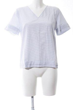 Comptoir des Cotonniers Schlupf-Bluse weiß-blau Streifenmuster Casual-Look
