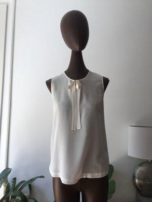 Comptoir des Cotonniers Top in seta bianco sporco