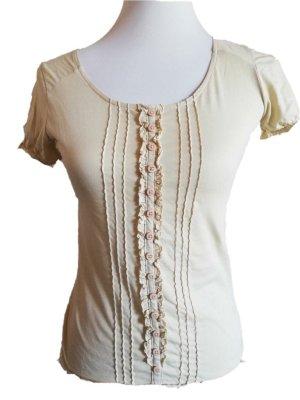 Comptoir des Cotonniers Shirt beige Rüschen feminin