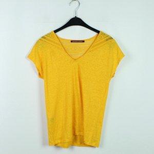 COMPTOIR DES COTONNIERS Shirt Gr. XS gelb Spitze (20/03/080)