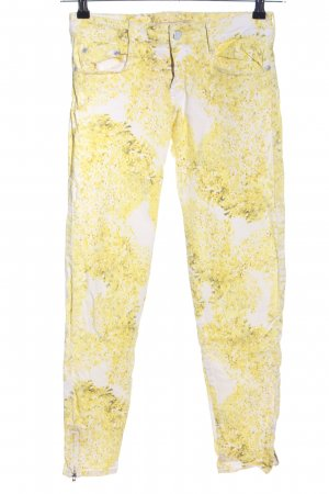 Comptoir des Cotonniers Slim Jeans wollweiß-blassgelb abstraktes Muster