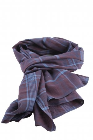 Comptoir des Cotonniers Summer Scarf blue-lilac graphic pattern casual look