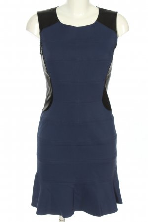 Comptoir des Cotonniers Stretchkleid blau-schwarz Business-Look