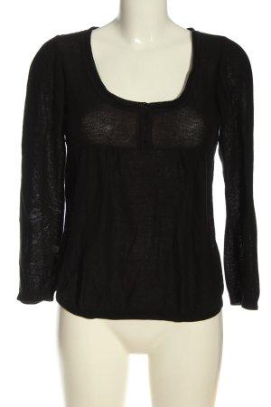 Comptoir des Cotonniers Strickshirt schwarz Casual-Look