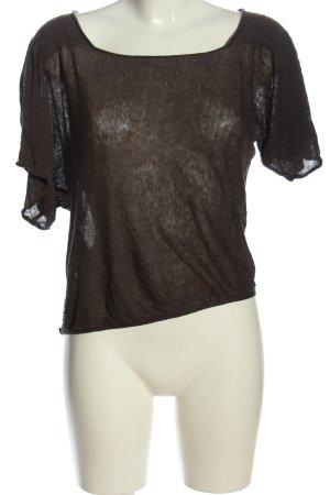 Comptoir des Cotonniers Camicia maglia marrone stile casual