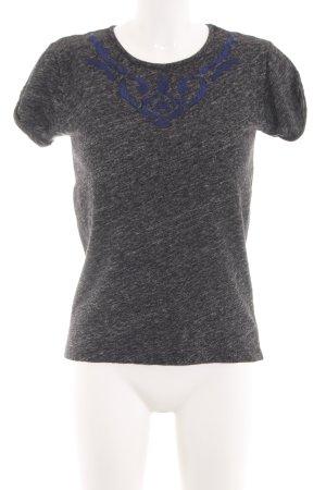 Comptoir des Cotonniers T-Shirt hellgrau-blau meliert Casual-Look