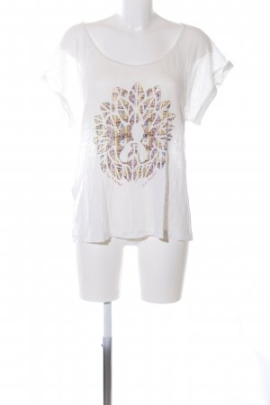 Comptoir des Cotonniers T-Shirt weiß Motivdruck Casual-Look