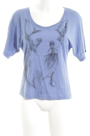 Comptoir des Cotonniers T-Shirt blau Motivdruck Casual-Look