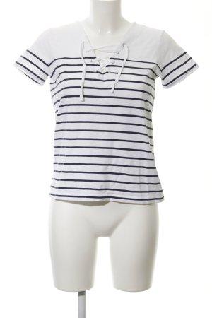 Comptoir des Cotonniers T-Shirt weiß-dunkelblau Streifenmuster Casual-Look