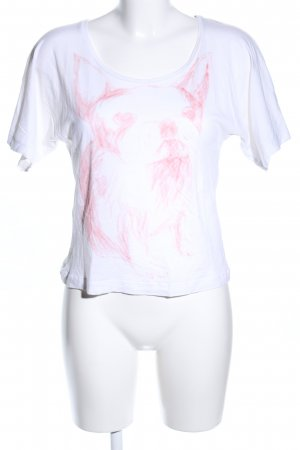 Comptoir des Cotonniers T-Shirt weiß-pink Motivdruck Casual-Look