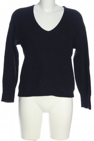 Comptoir des Cotonniers V-Ausschnitt-Pullover blau Casual-Look