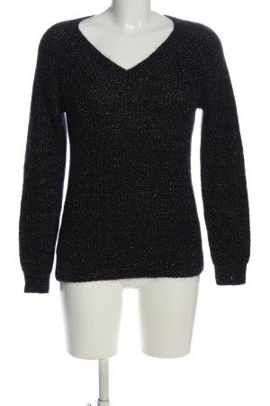 Comptoir des Cotonniers V-Ausschnitt-Pullover schwarz Casual-Look
