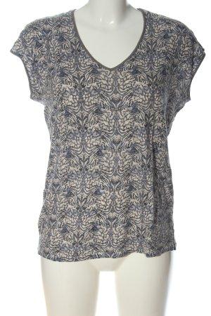 Comptoir des Cotonniers V-Ausschnitt-Shirt Allover-Druck Casual-Look