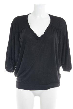Comptoir des Cotonniers V-Neck Shirt black mixture fibre