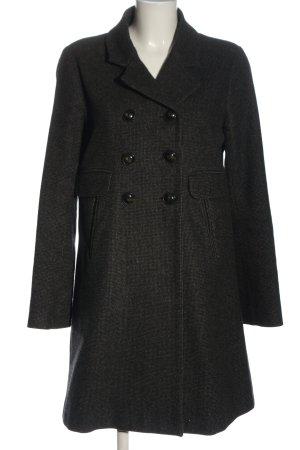 Comptoir des Cotonniers Wool Coat black weave pattern business style