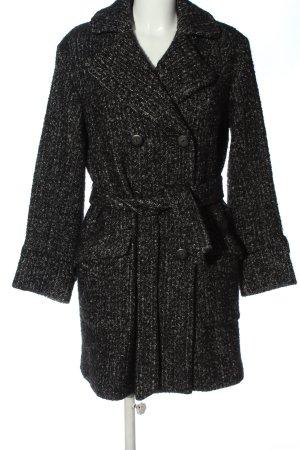 Comptoir des Cotonniers Wollen jas zwart-lichtgrijs gestippeld