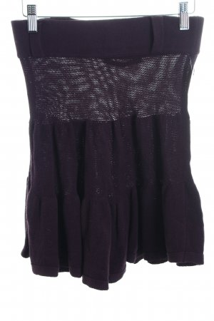 Comptoir des Cotonniers Wool Skirt dark violet casual look