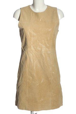 con fashion Vestido de cuero crema elegante