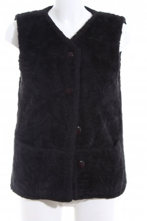 Concept UK Fake Fur Vest black casual look