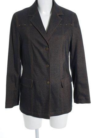 Concept K Spijkerblazer donkerblauw-beige retro uitstraling
