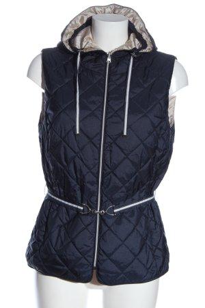 Concept K Smanicato con cappuccio blu-bianco motivo trapuntato stile casual