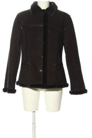 Concept K Giacca in ecopelle marrone-nero stile casual