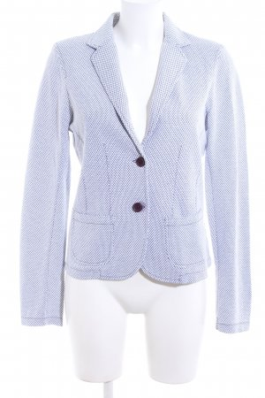 Concept K Blazer corto bianco-blu stampa integrale stile professionale