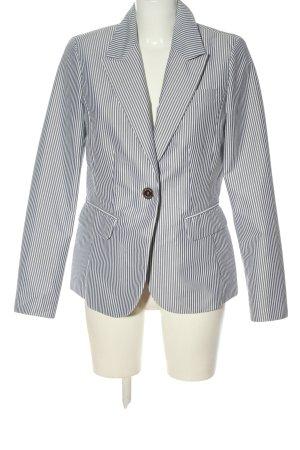 Concept K Blazer lungo blu-bianco motivo a righe stile casual