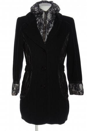 Concept K Winter Coat black-white casual look