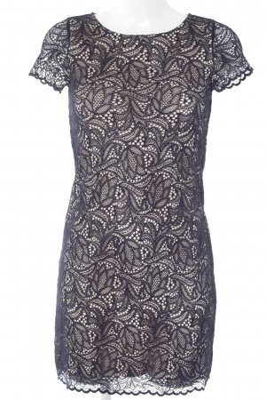 Concept Reserved Lace Dress cream-dark blue elegant