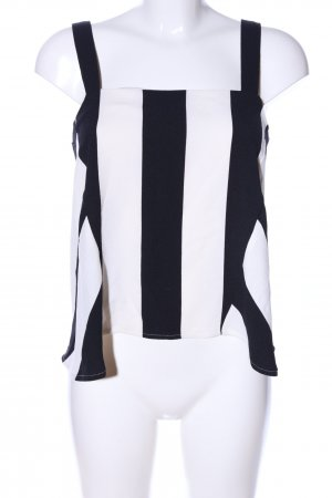 Concept Reserved Cowl-Neck Top black-white striped pattern casual look