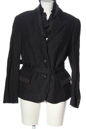 Concept UK Cappotto mezza stagione nero puntinato stile casual