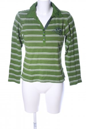 Concrete Sweatshirt grün-weiß Allover-Druck Casual-Look
